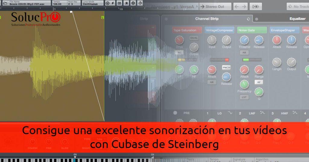 Sonido excelente en la edición de vídeo con Cubase 9.5 de Steinberg