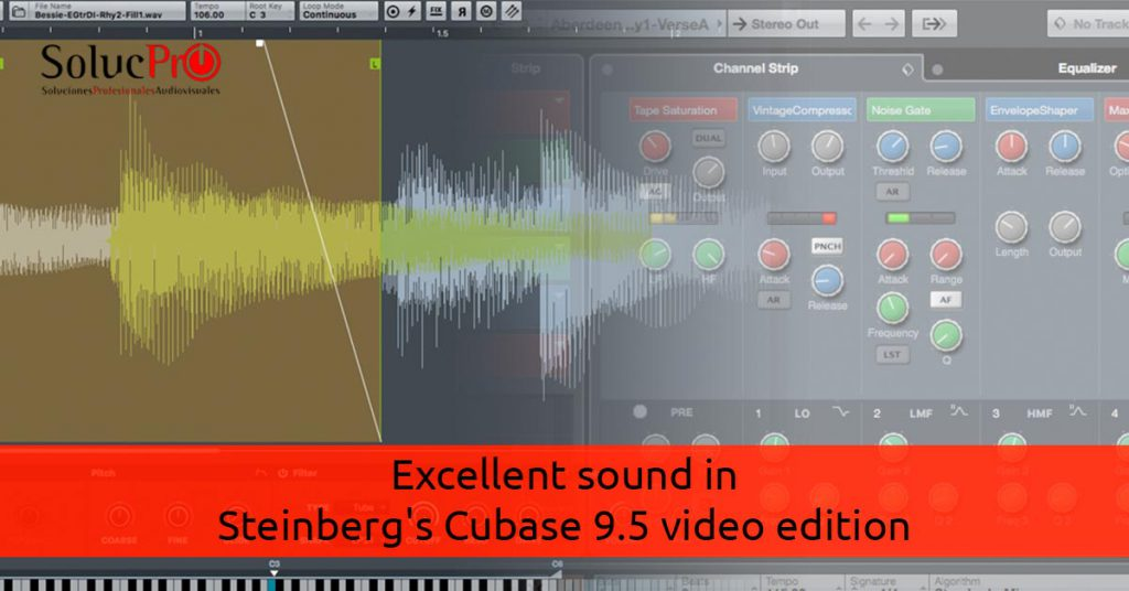 Excellent sound in Steinberg's Cubase 9.5 video edition